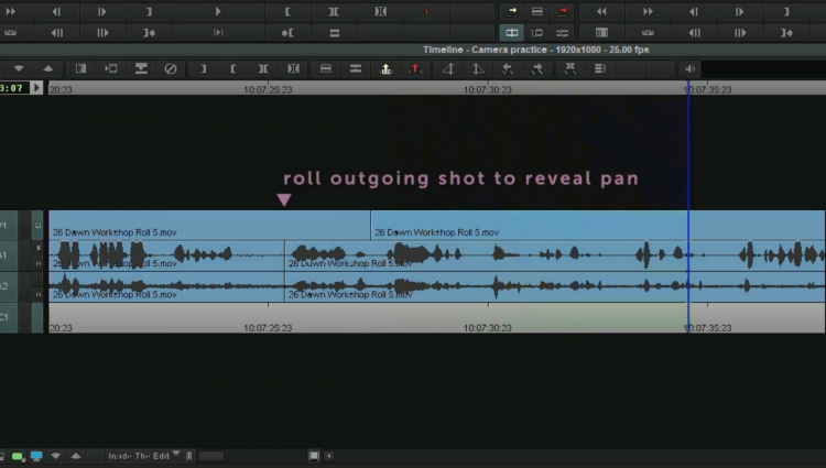 Inside the Edit Rolling Example