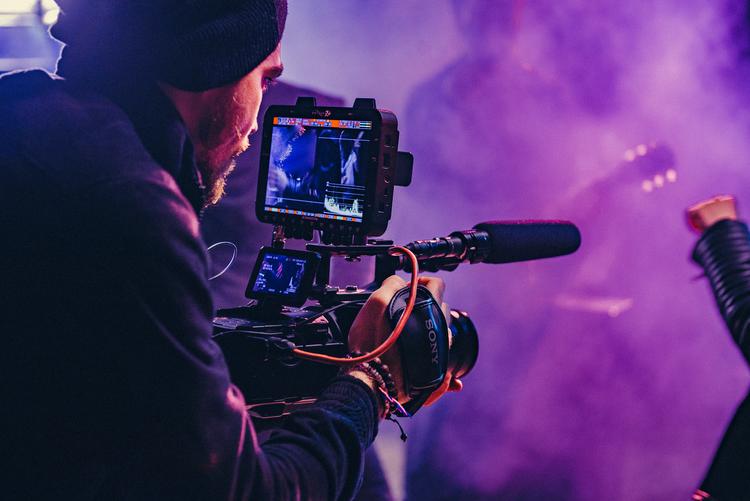 handheld video camera
