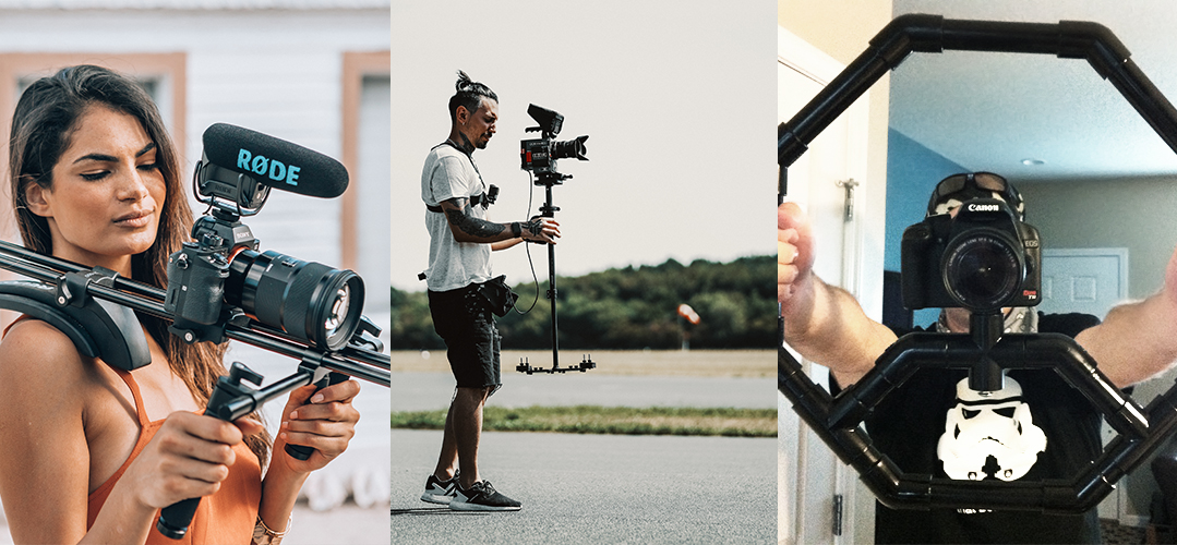 stabilizers and mounts for handheld video camera