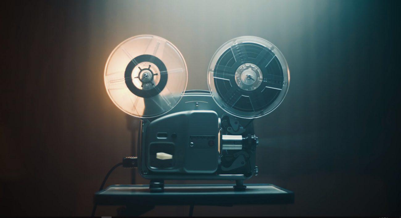 royalty free retro vintage video projector