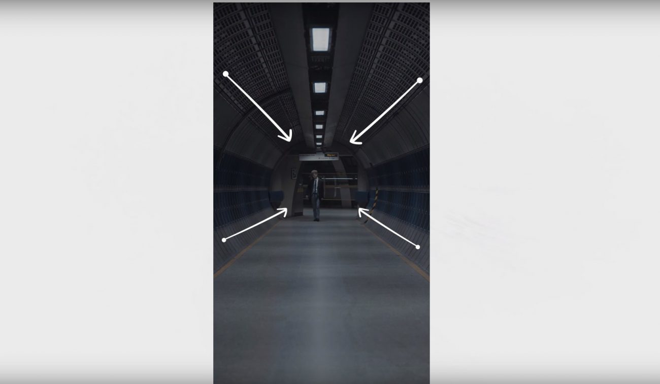 leading lines can be helpful when shooting a vertical video